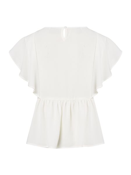 name it Girls Frill Front Woven Top