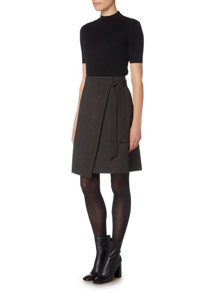Therapy Amorie Wrap Over Detail Skirt
