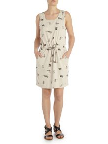 Vero Moda Sleeveless jersey print midi dress