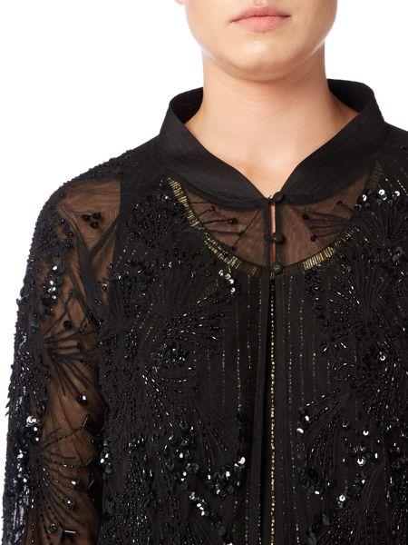 Biba Fully embellished throw on bomber jacket