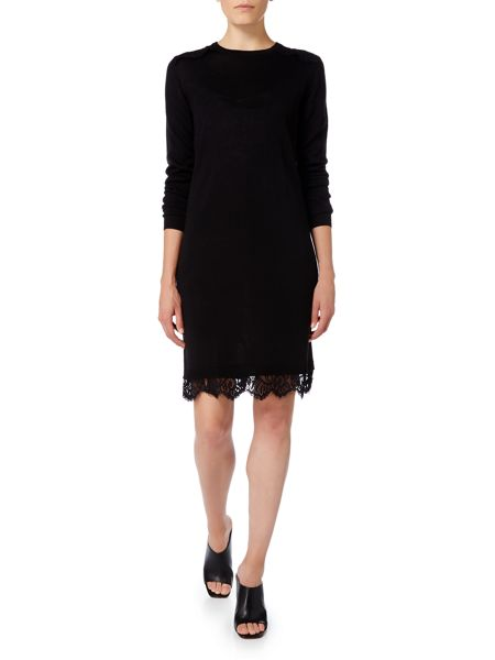 Linea Knitted lace hem dress