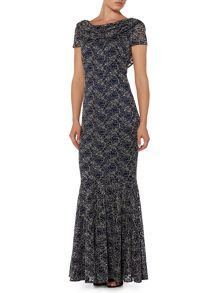 Shubette Lace cowl neck gown