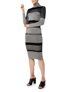 Linea Stripe knitted skirt