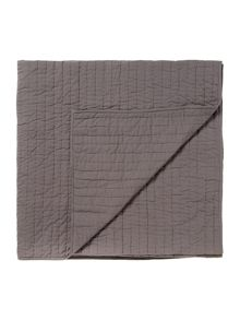 Linea Quilted cotton bedspread, grey
