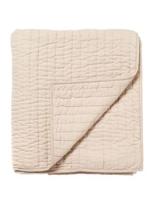 Linea Quilted cotton bedspread, latte