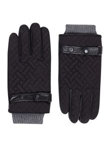 Ted Baker Ahmet Cross Hatch Quilted Gloves