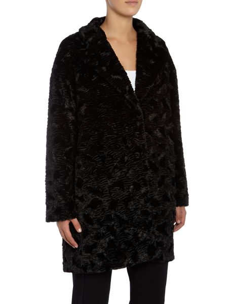 Marella Paga faux fur textured coat