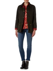 Barbour Catherine wedgewood wax jacket