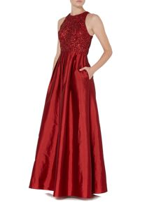 Adrianna Papell Sequin Full Mikado Gown