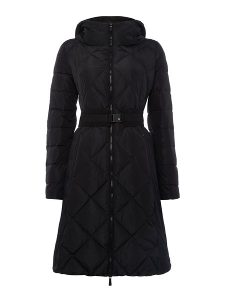 Marella Rama long sleeve padded coat with belt
