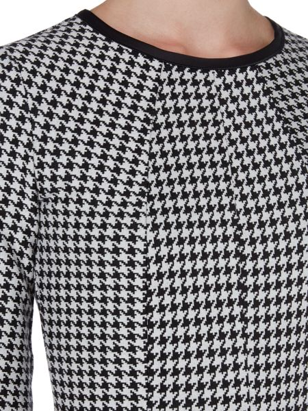 Marella Recent houndstooth check shift dress
