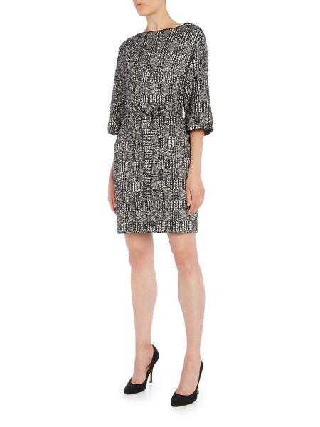 Marella Tunnel checked tweed dress with belt