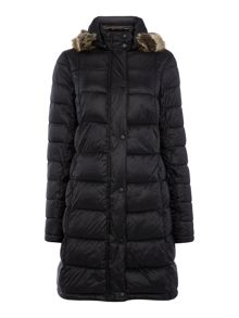 Barbour Haven padded jacket with faux fur hood