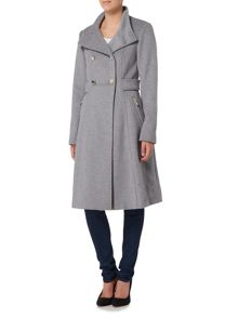 Eliza J Wool Blend Military Coat