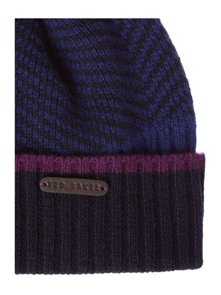Ted Baker Archat Twill Knitted Bobble Hat
