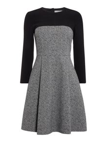 Marella Bunny textured constrast shift dress