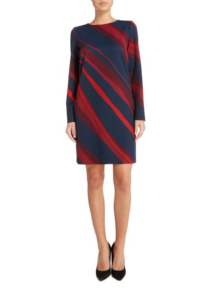 Marella Angelli long sleeve printed shift dress