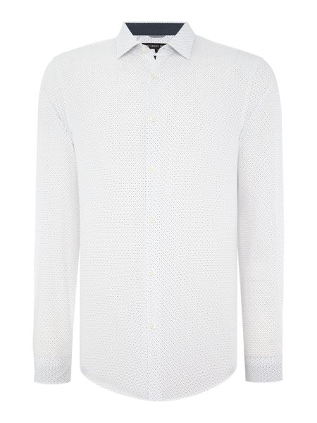 Michael Kors Slim fit pin dot print shirt