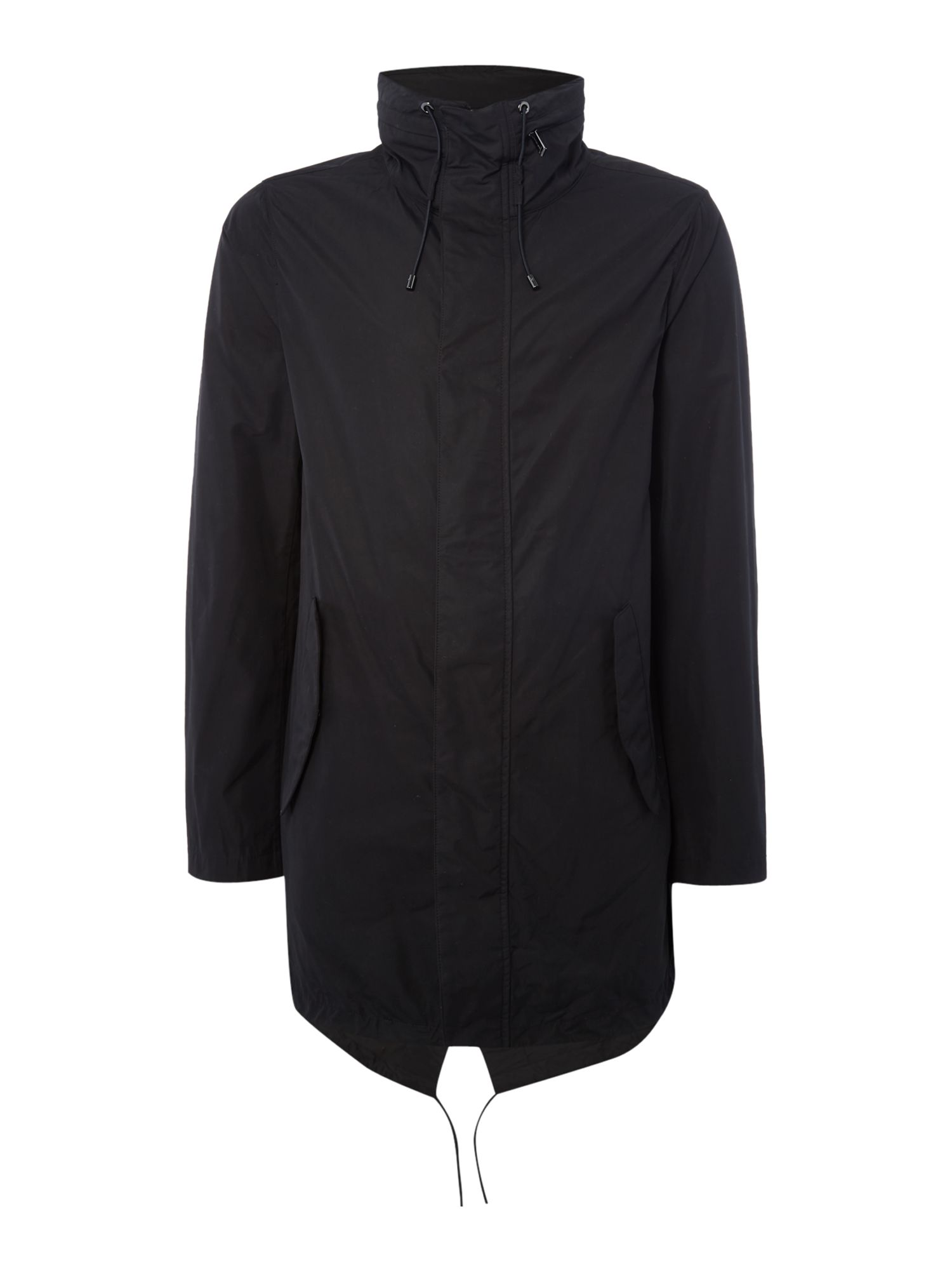 Mens Michael Kors Funnel neck showerproof anorak Black