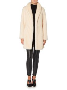 Episode Ivory Minx Faux Persian Fur Coat