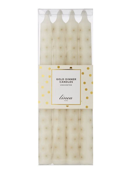 Linea Gold Dinner candle