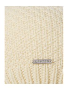 Lauren Ralph Lauren Moss stitch knitted hat
