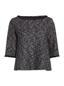 Marella Carina textured loose fit top