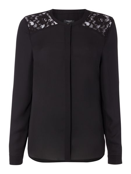Therapy Laurie Lace Shoulder Blouse
