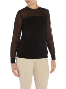 Marella Capo sheet contrast long sleeve top