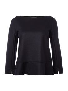 Marella Domez long sleeve frill back top