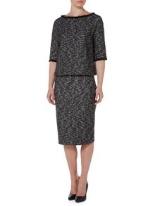Marella Bacco textured pencil skirt