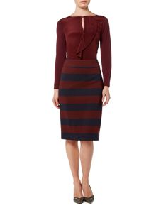 Marella Abano striped jersey skirt