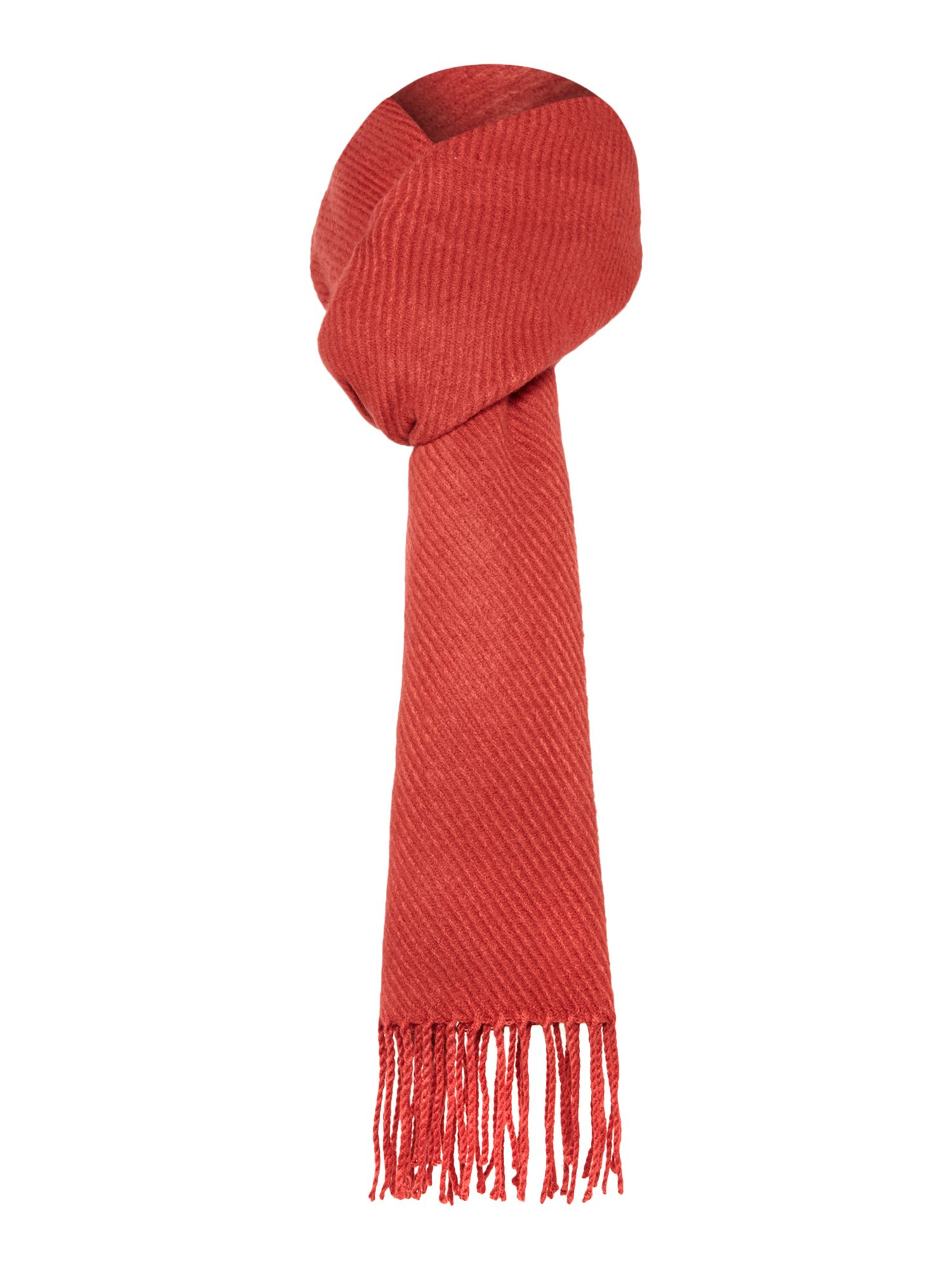 Pieces Pieces Long tassel scarf, Red