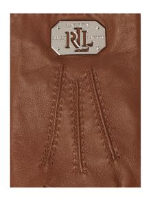 Lauren Ralph Lauren Leather logo plaque glove