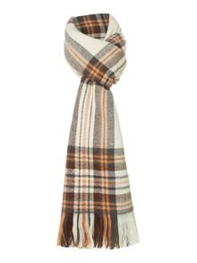 Pieces Checked long scarf