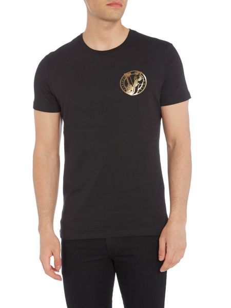 Versace Jeans Chest foil logo crew neck t shirt
