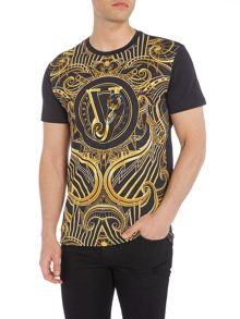 Versace Jeans All over Versace print crew neck t shirt