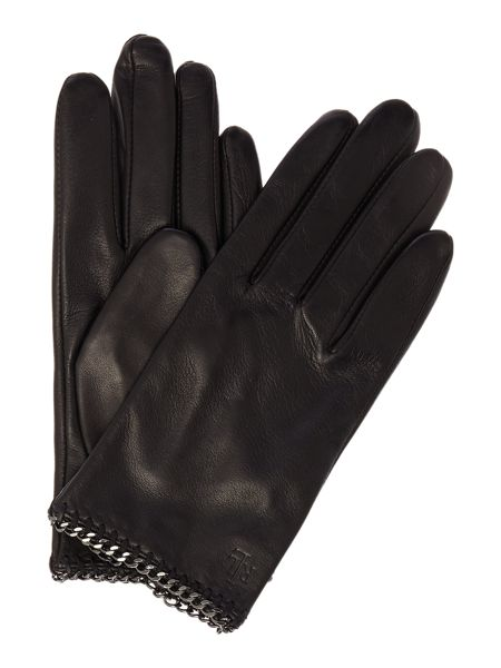 Lauren Ralph Lauren Chain edged driving glove