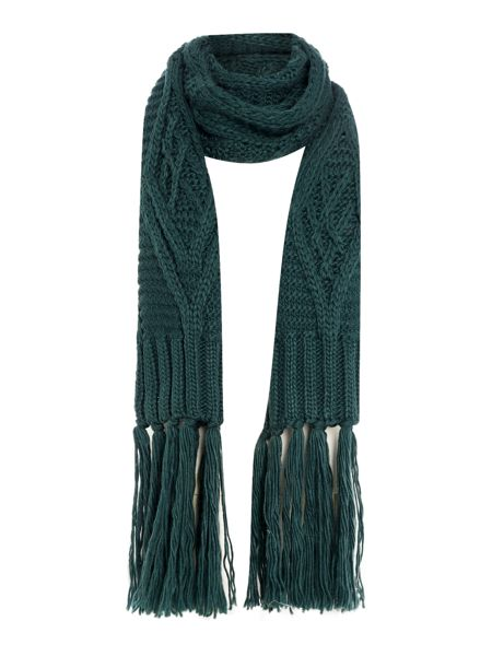 Pieces Heavy knitted scarf