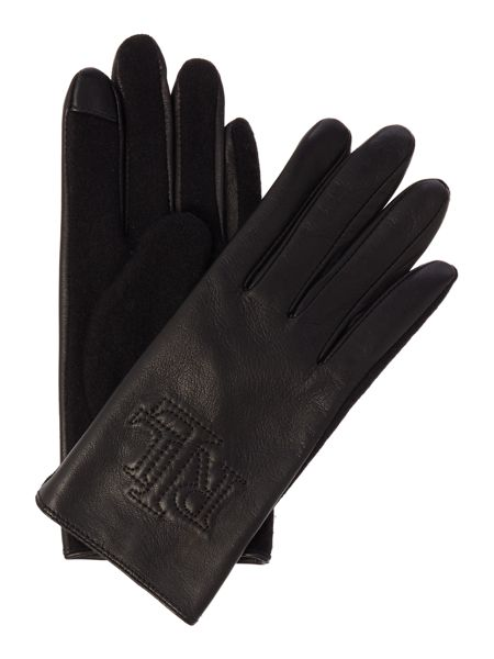 Lauren Ralph Lauren Logo leather touch glove