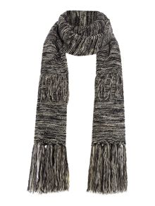 Pieces Layered tassel scarf