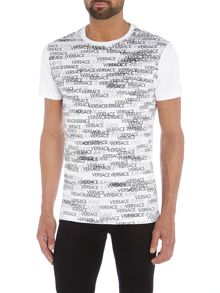 Versace Jeans All over logo print crew neck t shirt