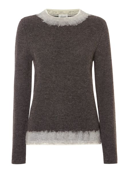 Linea Textured trim knit jumper
