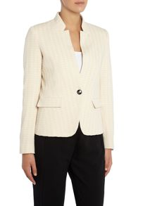 Marella Immune long sleeve houndsooth blazer