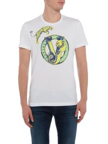 Versace Jeans Jumping tiger print crew neck t shirt