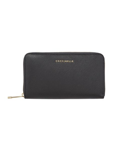 Coccinelle Black ziparound purse