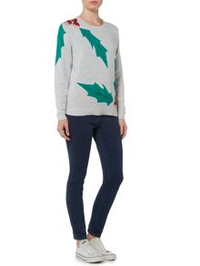 Dickins & Jones Holly Placement Christmas Jumper