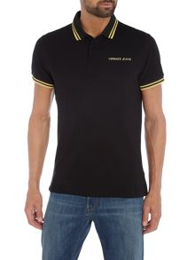 Versace Jeans Large back logo print polo shirt