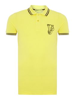 Chest embroidered logo polo shirt