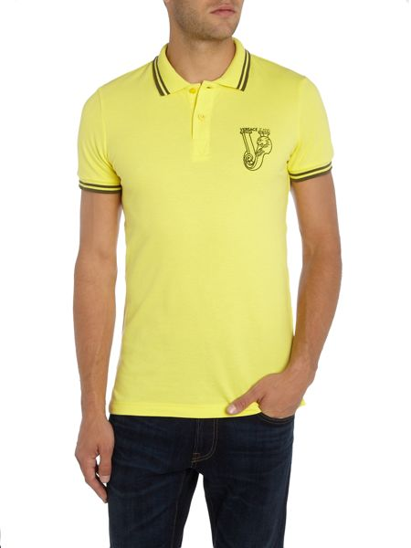 Versace Jeans Chest embroidered logo polo shirt
